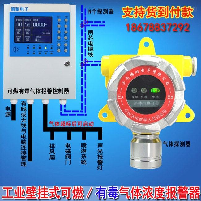 化工厂车间乙酸气体报警器,气体探测仪安装接线图