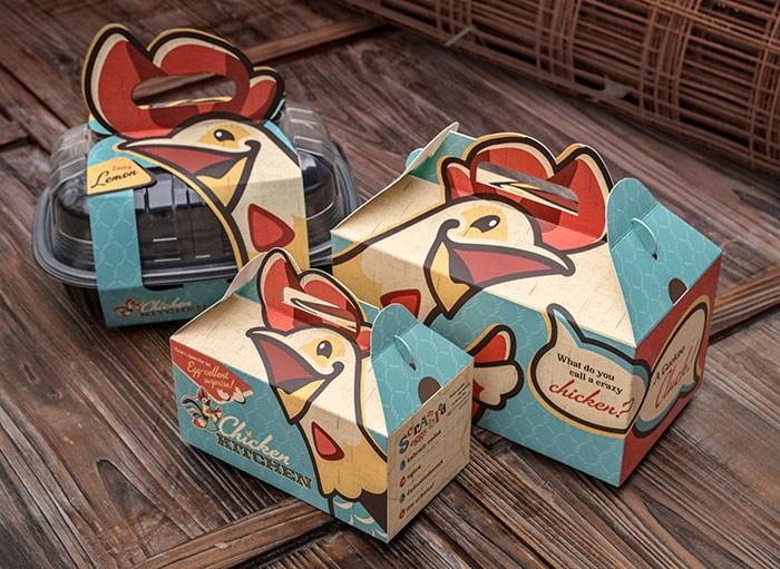 熟食鸡独特的包装设计